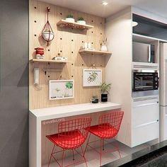 Home Decor – Decor Ideas – decor One Wall Kitchen, Narrow Kitchen, Kitchen Nook, Kitchen Dining, Kitchen Decor, Kitchen Furniture, Kitchen Interior, Furniture Design, Home Room Design