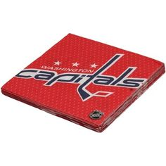 capitals napkins - 16 pack for $4.95 @ fanatics.com --- it's not the cheapest, but could do a few packs and then mix with solid white (for dirt cheap) and at least it's actually the capitals
