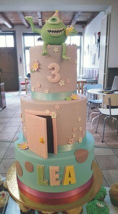 Monster and Cie Birthday Cake design <3 For a little girl - By Miss Audrey's Cupcakes -   Soutenez-nous dans le développement de nos salons de thé vintages ! Support us to develop  our vintage tearooms !  Facebook : https://www.facebook.com/MissAudreysCupcakes/ Ulule : http://fr.ulule.com/audreys-cupcakes/  Merci :D ! Thank you :D !
