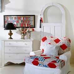 Quilt Over Stuffed Chair..♥