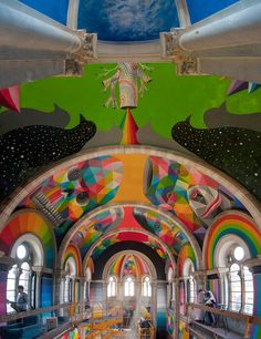 okuda-san-miguel-paints-colorful-mural-within-converted-church's-indoor-skate-park-designboom-10