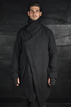 Boris Bidjan Saberi, Asymmetrical Button Up Coat