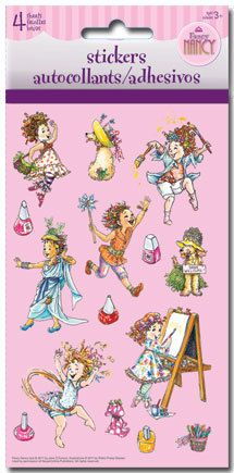 FANCY NANCY STICKERS Birthday Party Favors 4 sheets