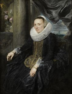 Director's Choice: Anthony van Dyck  (1599–1641), Margareta de Vos, ca. 1620, Oil on canvas 51 1/2 x 39 1/8 in., The Frick Collection, New York, Photo: Michael Bodycomb
