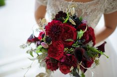 Red, black and gold winter wedding bouquet inspiration The Ebell of Los Angeles Wedding Bridal Bouquet of Red Roses, glamorous wedding, gold wedding, friar tux shop black tuxedo, Love is Sweet Events, Jessica Elizabeth Photography