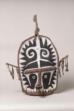 probably Elema People, PNG, Barkcloth Mask (Eharo), collected 1885, Bark cloth…