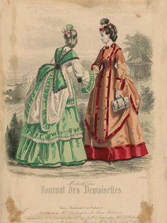 Fashion plate, 1870, France.