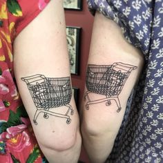 "358 Likes, 14 Comments - Alice Badger  (@abadgertattoos) on Instagram: ""What a attractive pair of trolleys! These babes know trolleys.  Artwork by @brontemark…"""