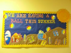 Summer Bulletin Board made by me :-)