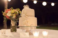 #seashell #weddingcake #costaricawedding   Pacifico Beach Club wedding by Four WInds Weddings   Cake by @Victoria Zoch