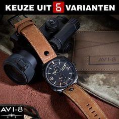 ⌚ AVI-8 Hawker Hunter AV-4010 pilotenhorloges (-84%) | VELOCITECH Hockenheim Chronographs (-80%) | CLUSE Brillante Color (-83%)