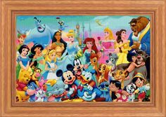Disney Heroes 6 large  cross stitch pattern  PDF pattern