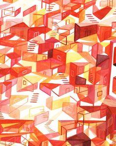 Read L'histoire de bureau de Mügluck, illustratrice Illustrations, Baron, Oeuvre D'art, French, Artwork, Abstract Backgrounds, Desk, Color, Work Of Art