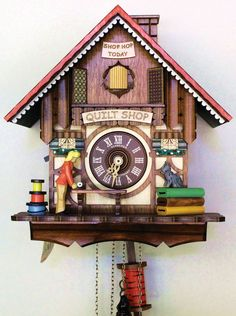 Quilt Shop Cuckoo Clock, one of the gifts featured in the Holiday Gift Guide in Quilters Newsletter December/January 2016.