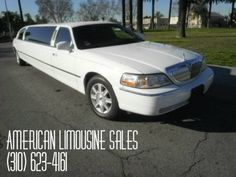 2006 LINCOLN Town Car White 120-inch 10 Pass. Limousine #1053 - $27995  Visit our website at: Americanlimousinesales.com