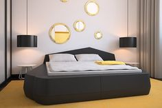 """from an article """"color design ideas with black furniture"""" for the black leather I will hve to move into the mobile home with.  not sure yet how tht will play out..."""
