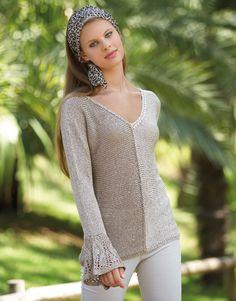 Revista mujer City 78 Primavera / Verano   16: Mujer Jersey   Beige claro / Beige medio