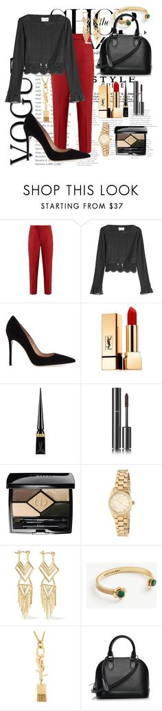 """Untitled #63"" by emaniqa ❤ liked on Polyvore featuring Racil, 3.1 Phillip Lim, Gianvito Rossi, Yves Saint Laurent, Christian Louboutin, Chanel, Christian Dior, MICHAEL Michael Kors, Noir Jewelry and Ann Taylor"