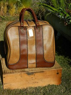 Vintage Brunswick multi tone Tan and brown by QuirkyCrowsVintage, $20.00