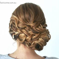 Messy Curly Braided Updo