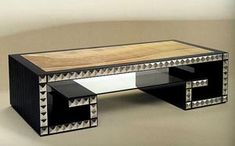 COCKTAIL TABLE DESIGN SILVER ONYX & GLASS