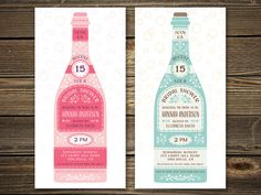 Bridal Shower Invitation  Retro Wine or by PaperSunStudio on Etsy