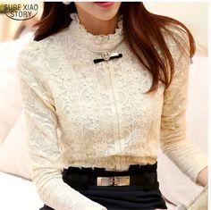 New 2017 Hot women tops Women Clothing fashion Blusas Femininas Blouses & Shirts Fleece Women Crochet Blouse Lace Shirt 999