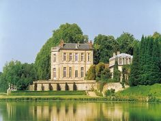 Château de Villette ~ France ~ One of the most significant historical chateaux in France, Villette is both simple and sumptuous with the great octagonal salon in white and blue, the elegant dining room with the original 17th Century carved stone buffet, magnificent boiseries that has dessus-de-deportes by Francois Boucher, and the limestone entry hall which completely exalts the classicism of the 17th Century.