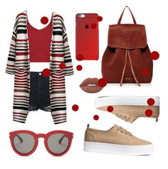 """""""🍩🍩🍩"""" by altunaizeiri ❤ liked on Polyvore featuring Topshop, Mansur Gavriel, Lime Crime and Yves Saint Laurent"""