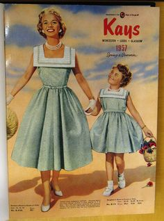 1950s mother daughter fashion