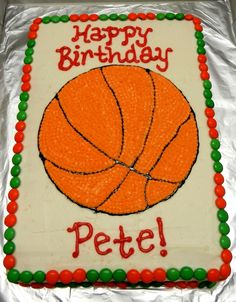 Basketball cake Food Decorating Pinterest Cake Birthdays and