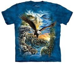Mountain T-Shirt with Find 11 Eagles design by Steven Michael Gardner. This heavyweight 100% Cotton T-Shirt will last you for years and features an over-sized relaxed fit, with reinforced double-stitc