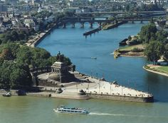 Lovely Deutsches Eck-Koblenz, where the Rhein meets the Mosel...