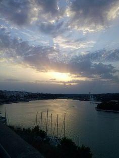 Atardecer en el Puerto de Mahón
