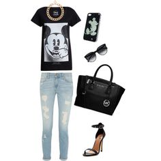 """""""In Black with Mickey."""" by julissacevasco on Polyvore"""