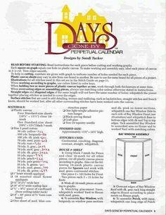 Days Gone By perpetual calendar