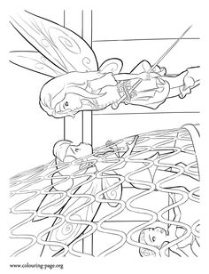 Looks Like Zarina Is Watching Over Tinkerbell Who Trapped In A Birdcage Print And TinkerBell Coloring PagesFairy
