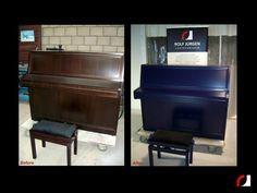#Spuiterij #meubelspuiterij #interieurspuiterij #Parkstad #Kerkrade #Limburg #Heuvelland #Piano #Spuiten #Verven #Interieur #Meubels #Instrumenten #restylen #renoveren #blauw #Zijdeglans #hout