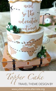 Cake Topper per matrimonio a tema viaggio TRAVELER | Juliet in Zena