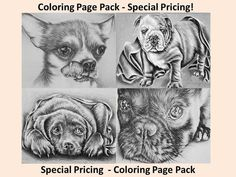Who doesn't love adorable puppies? These coloring pages are such a fun way to relax! Just download, print & enjoy! See more at https://www.etsy.com/shop/ArtistrybyLisaMarie?section_id=17867395&ref=shopsection_leftnav_4