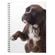 #boxer dog spiral notebook - #boxer #puppy #boxers #dog #dogs #pet #pets #cute