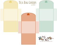 Tea Bag Covers   Free-download These are cute if your putting together a gift basket