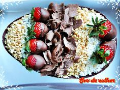 ovos de colher Chocolate Truffles, Chocolate Lovers, Easter Recipes, Dessert Recipes, Desserts, Chocolates, Dessert Shooters, Yummy Cookies, Nutella