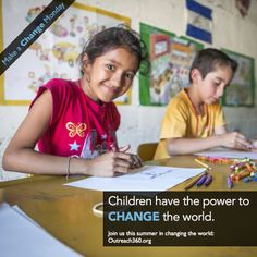Children have the power to change the world! That's why Outreach360 volunteers invest their time and resources in educational programs for disadvantaged children, creating opportunities for a better future for all.