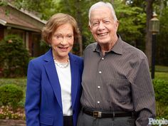 Former First Lady Rosalyn Carter and Former President Jimmy Carter.