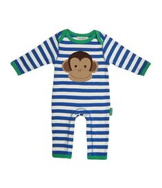Toby Tiger All in One with Monkey Applique