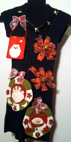 Ugly Christmas Sweater Dress Brand new 4 button by stealofadeal, $58.90