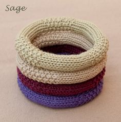 Knitted Cotton Bracelet