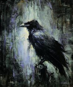 art birds painting oil on panel asylum art lindsey kustusch aesthesia heaven in asylum art Crow Art, Raven Art, Bird Art, Crow Painting, Diy Painting, Painting & Drawing, Arte Horror, Horror Art, Wildlife Art