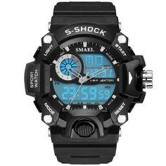 Men Military Army Mens Watch Reloj Led Digital Sports Wristwatch